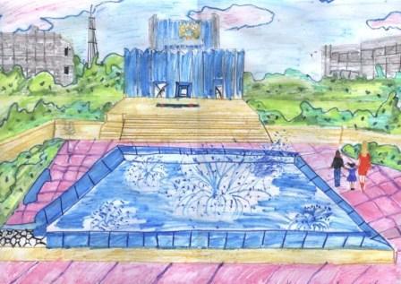 рисунок на тему мой город рыбница